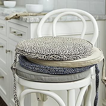 Awesome Amazon Com Kerry Round Chair Cushion Linen Spa Ballard Gmtry Best Dining Table And Chair Ideas Images Gmtryco