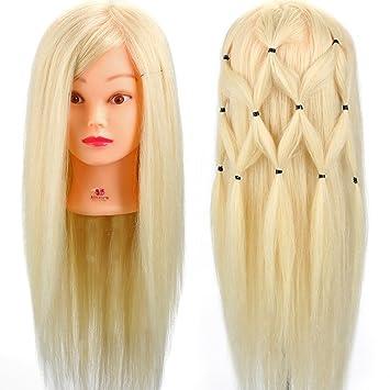 Neverland 24 Zoll übungskopf Frisierkopf Friseur 70 Echthaar Haar