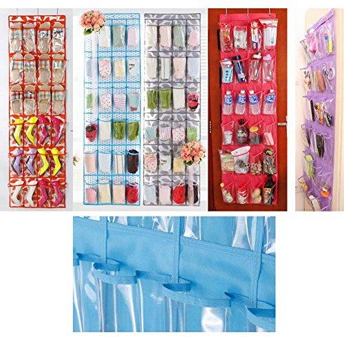 24 Taschen über dem Türschuh Veranstalter hängender Aufbewahrungsbeutel, Rosa