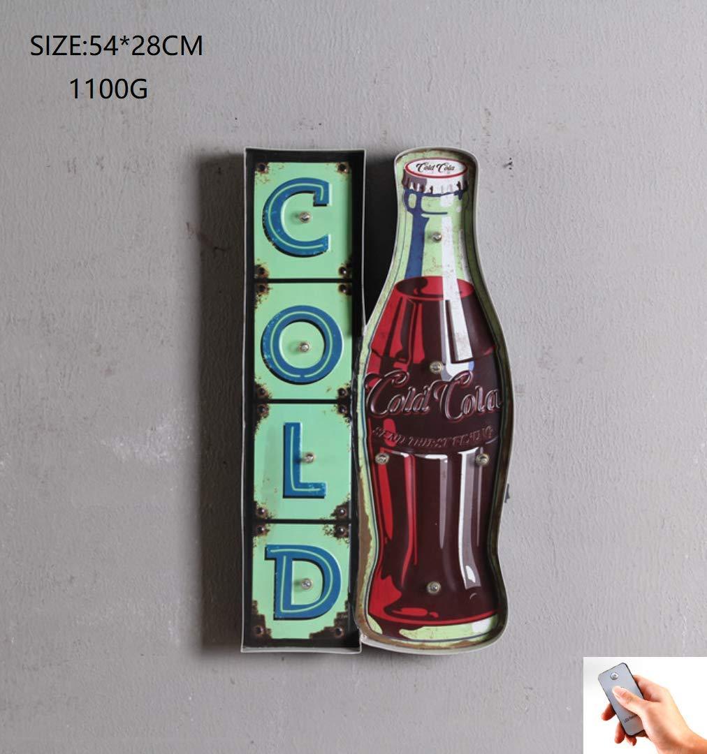 Cafe Bar Light Sign, Retro Creative Wall Hanging LED ...