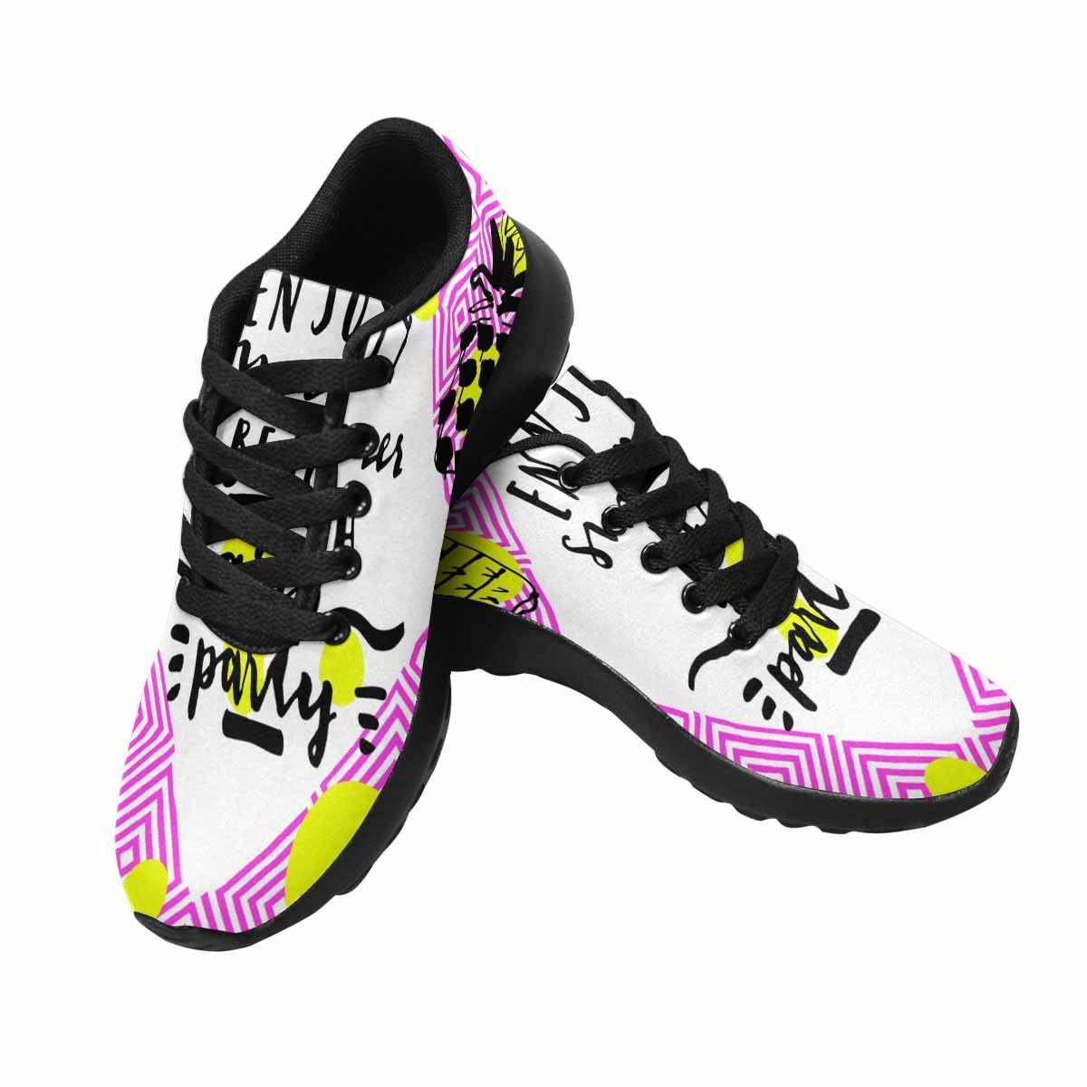 InterestPrint Women's Go Easy Walking Comfort Sports Athletic Shoes Enjoy Summer Beach Party 7 B(M) US