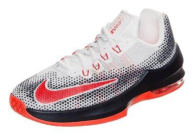 Nike Kids Air Max Infuriate (GS) Basketball Shoes (6 Big KId M, White Total Crimson)