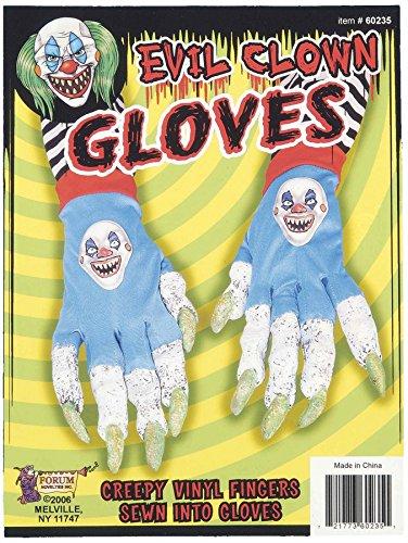 Forum Novelties Evil Clown Gloves
