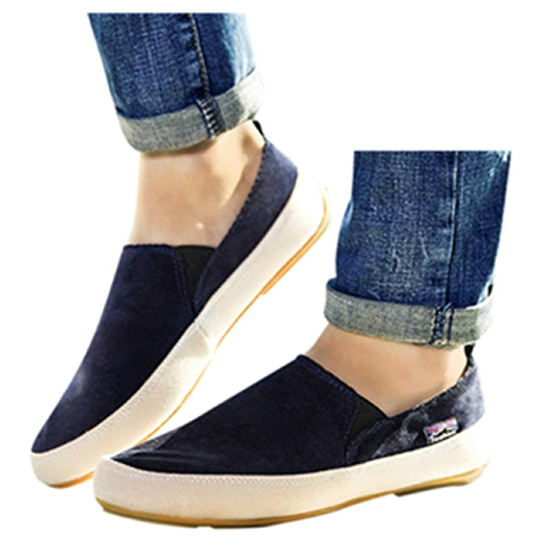 Womens Flat Shoes Office Formal Business Boat Shoes Breathable No-Slip Canvas Shoes Footwear by Gyouanime