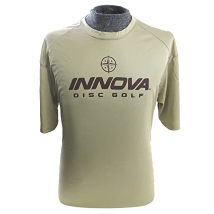 641649d263f Amazon.com   Innova Rising Star Short Sleeve Performance Disc Golf T-Shirt   Design Print Color May Vary    Sports   Outdoors