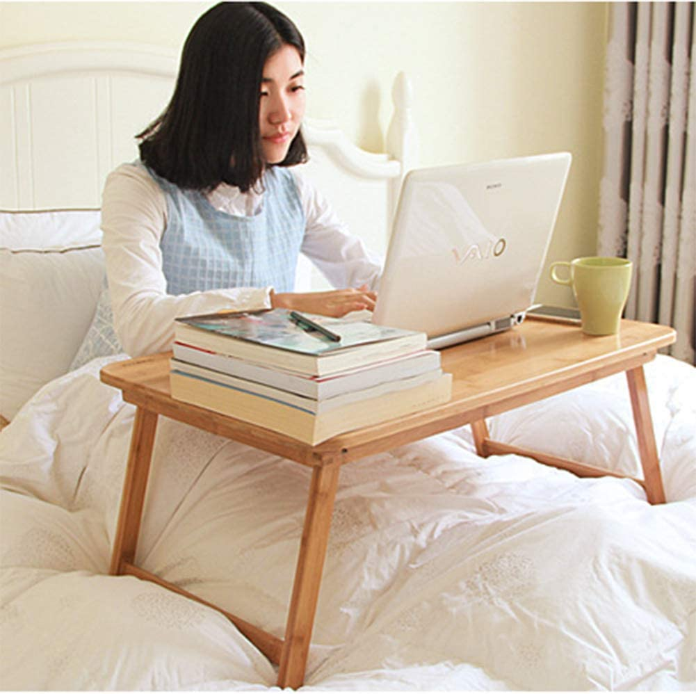 Breakfast Table 100/% Bamboo,5534Cm MICHEN Laptop Table//Multi-Function Table Bed Tray