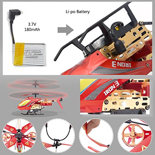 GPTOYS Remote Control Helicopter 4 Channel RC Helicopter with LED Light Indoor Rechargable RC Toys for Kids Boys and Girls by GPTOYS (Image #5)