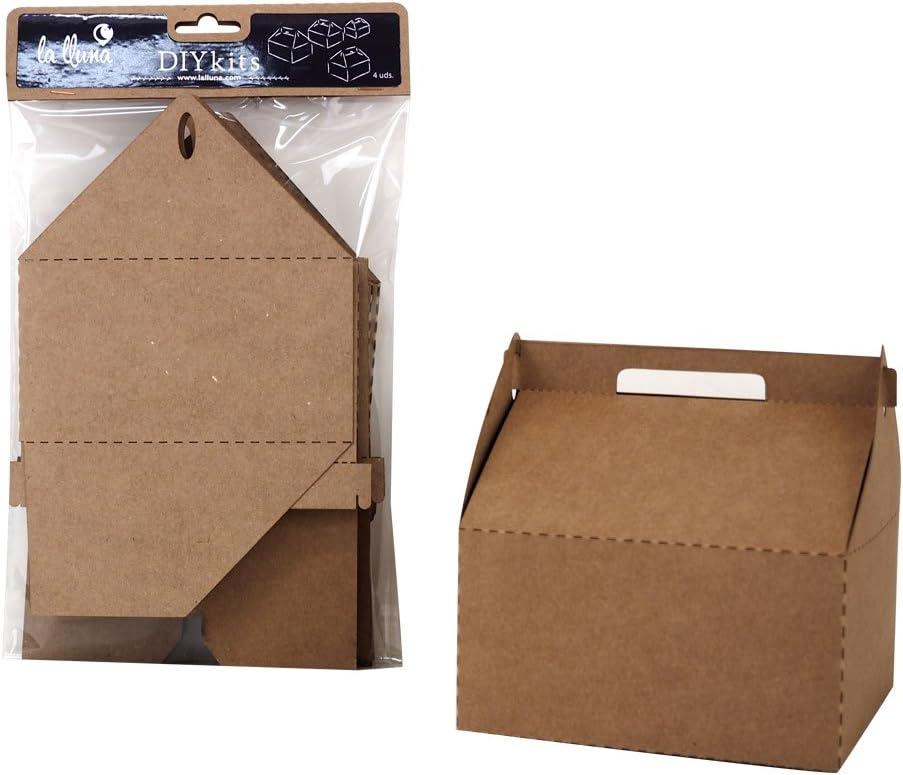 Cajas en cartón Kraft - Picnic (4 u.): Amazon.es: Hogar