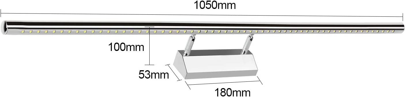 BAODE Spiegellampe LED Spiegelleuchte mit Schalter 15W//105cm Neutralwei/ß Spiegellicht Badleuchte Schrankleuchte Badleuchte Schrankleuchte Wandlampe Spiegellampe