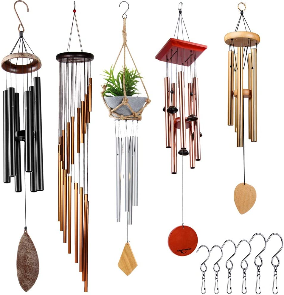 Epartswide 5 Wind Chimes and Sizes for Garden Patio Decor