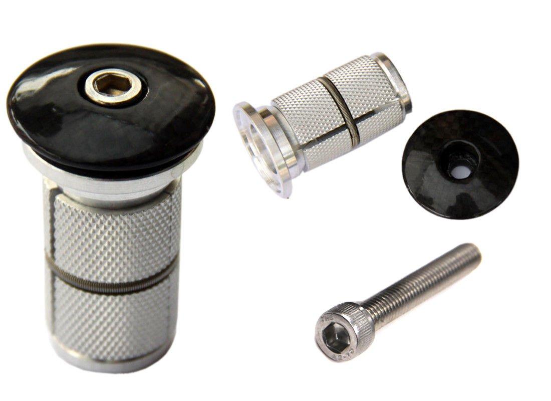 Carbon fiber Headset Top Cap /& bike Fork Expander Bung 1 1//8'' Replaces Starnut