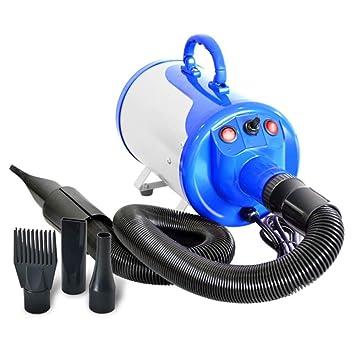 CWCFJ Perro Grande Soplador De Agua para Mascotas Peluquería Secador De Pelo De Alta Potencia Perro Pequeño Grande Universal,Blue: Amazon.es: Jardín