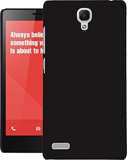 new product 23e46 73c56 WOW Imagine (TM) Matte Rubberised Hard Case Back Cover for XIAOMI MI REDMI  Note/Note 4G / Note Prime (Black)