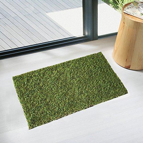 "Home Cal Artificial Grass Rug Series Landscape Indoor Mat Decorative Synthetic Turf Pet Area Door Mat 2cm 40""x28"" Summer Grass"