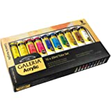 Winsor and Newton 20-Milliliter Galeria Acrylic Paint, 10-Pack, Assorted
