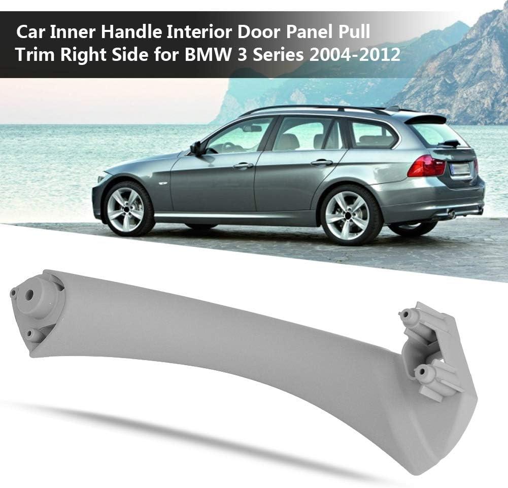 Beige Pannello interno della portiera della maniglia interna dellautomobile Tirare il rivestimento lato destro maniglia della porta interna per la serie 3 2004-2012