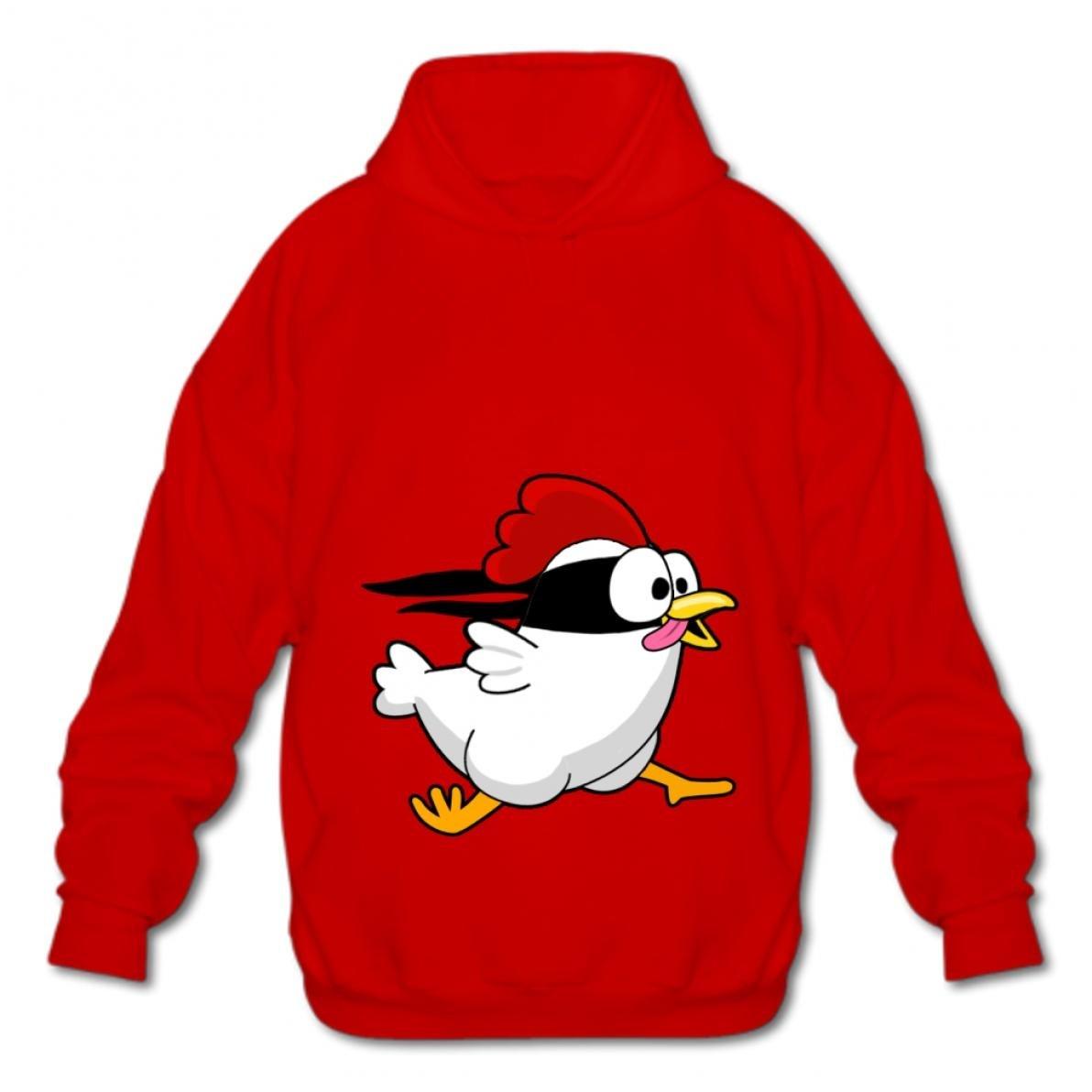 Tngjijish Hooded Sweatshirt Style Cotton Pullover Fashion Hoodies-03 Cartoon Chicken sqxy Men
