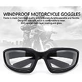 Yooyee Occhiali a Mascherina per Moto, 3 pezzi Occhiali Protettivi Moto da Motociclista per Attività Sportive All'aria Aperta (Assortimento)