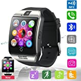 Bluetooth Smart Watch Phone Pandaoo Smart Watch Mobile Phone Unlocked Universal GSM Bluetooth 4.0 NFC Music Player Camera Calendar Stopwatch Sync for Android iPhone Google Huawei Smartphones (Silver)