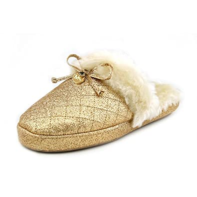 Michael Kors Carter Slipper Damen Gold Pantoffel Schuhe
