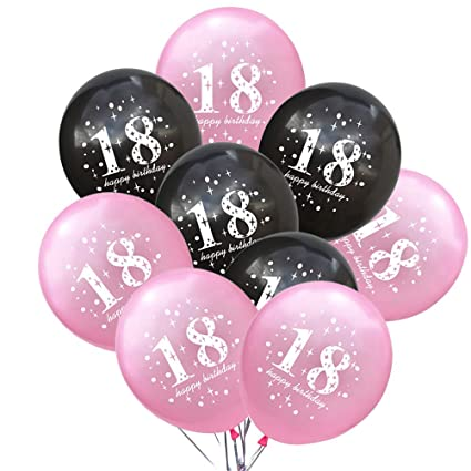 Image Unavailable Not Available For Color BESTOYARD 20pcs 18th Birthday Balloons Party Decorations