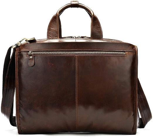 Kindlov-BG Men Laptop Briefcase Bag Mens Leather Mens Handbag Cross Section Computer Bag Business Briefcase for School Travel Color : Black, Size : Free Size