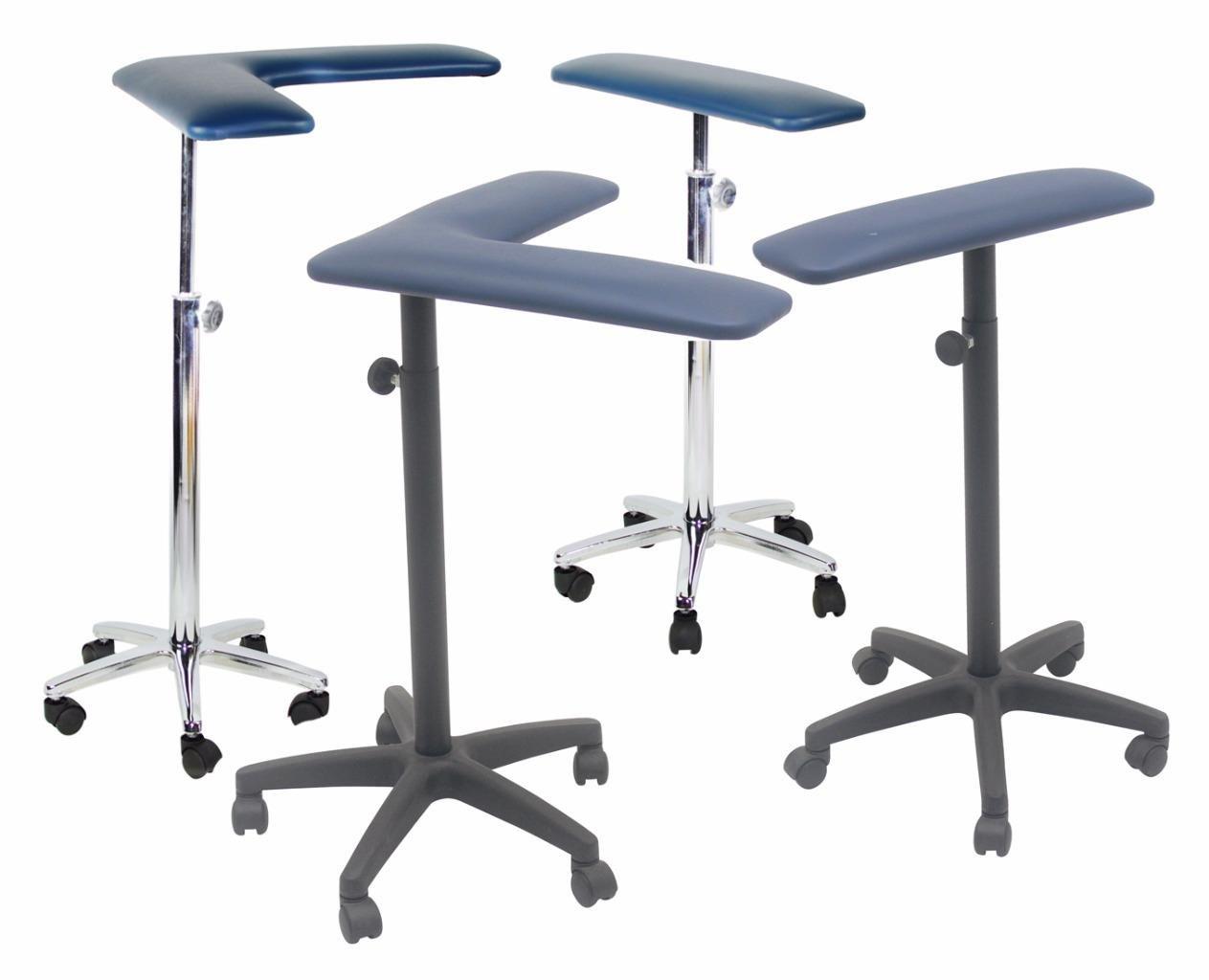 Trail Med Manufacturing Height Adjustable Upholstered Portable Mobile Blood  Draw Phlebotomy Arm Pad Post Medical Grade Vinyl