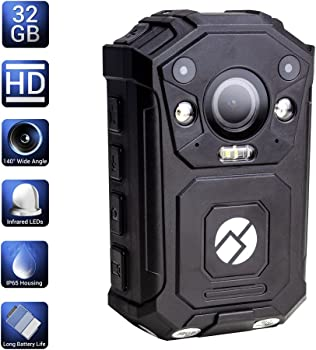 R-Tech Hd 1080p Police Body Camera Security Ir Cam