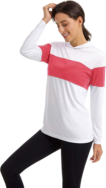 GOLDPKF Womens UPF 50 Sun Protection Hoodie Shirts Long Sleeve Outdoor Rashguards