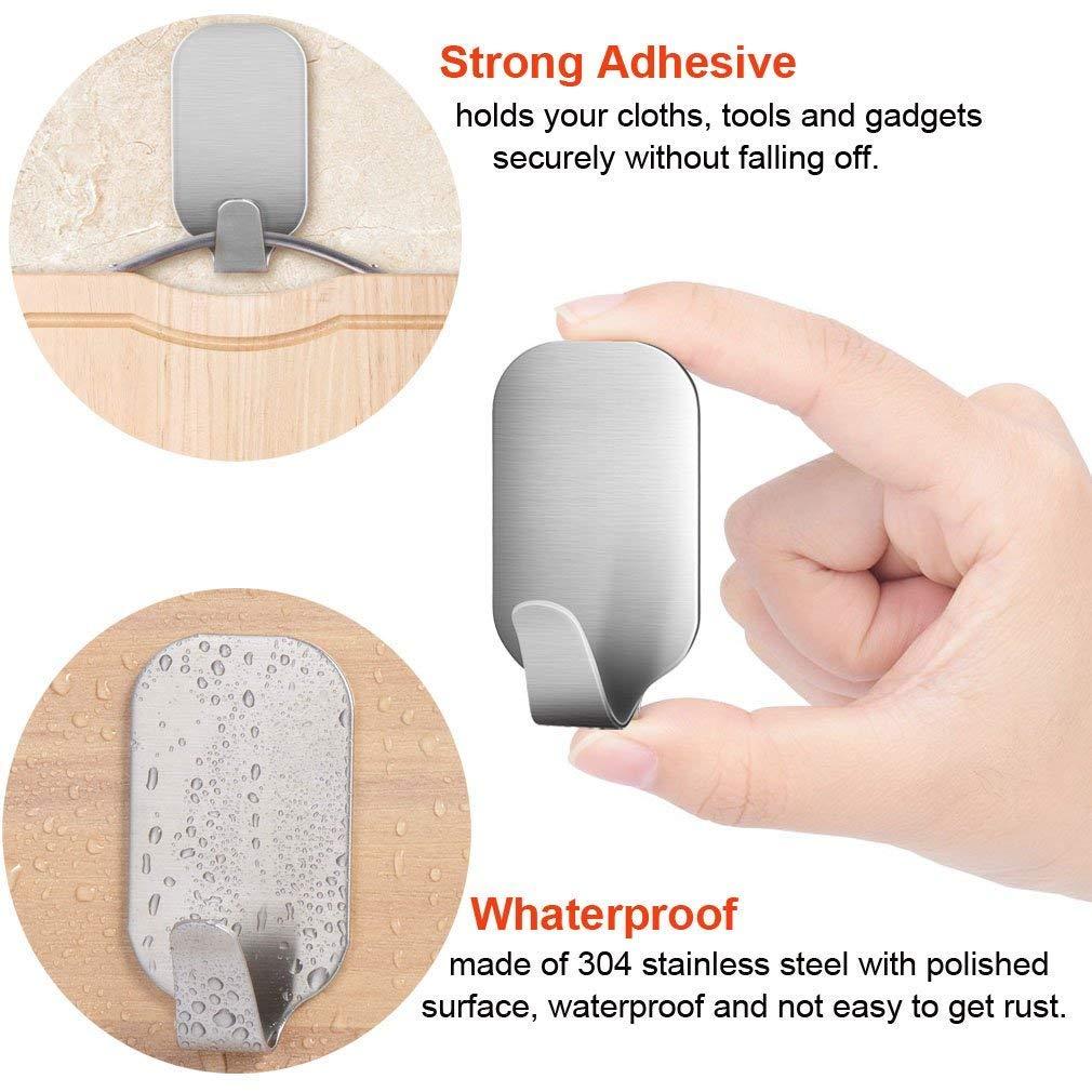 Angker Heavy Duty en acier inoxydable 304/Crochets solide 3/m adh/ésif en acier inoxydable Crochets de serviette Serviette Racks Crochets de mur pour cuisine salle de bain