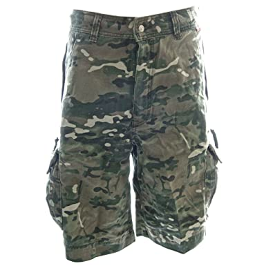 858f02312f Molecule Men's Regular Fit Beach Bumpers Camo Cargo Shorts with Tactical  Pockets | USA 29""
