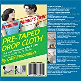 Pretaped Drop Cloth along with Blue Masking Tape (48 in x 75 ft (1 ct))
