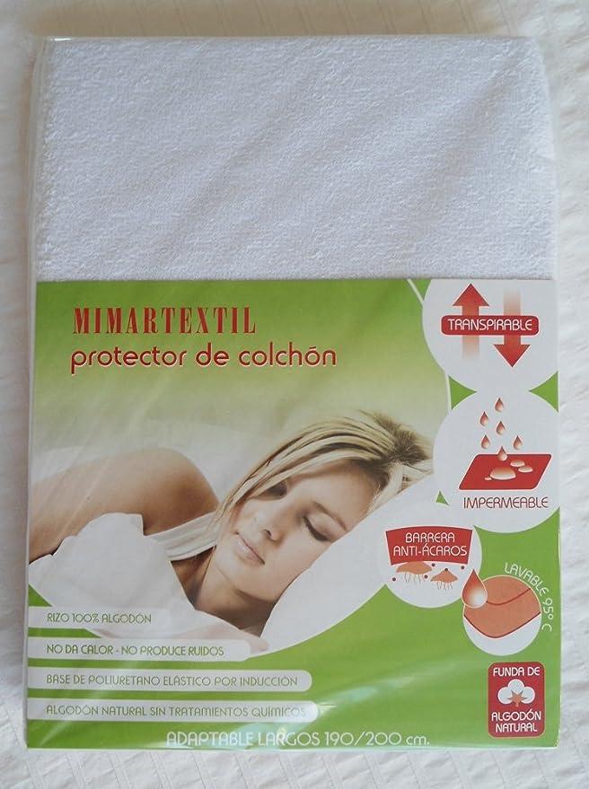 Protector de colchón transpirable e impermeable. Medidas de colchón 135x190x20: Amazon.es: Hogar