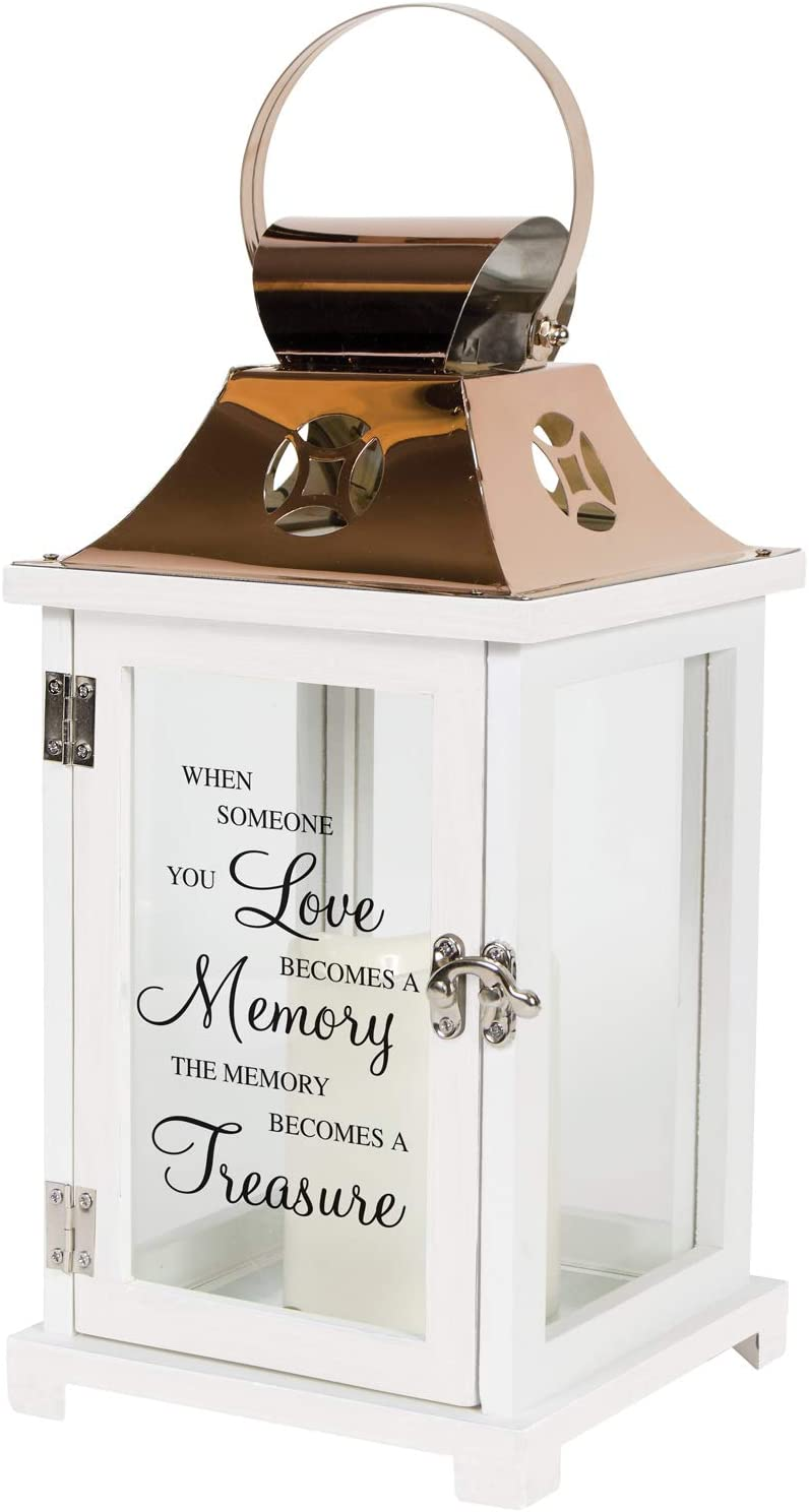 Carson Home Accents 185955 A Memory Becomes a Treasure Flameless Candle Lantern