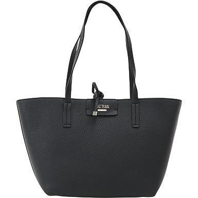 Amazon.com  GUESS Women s Bobbi Inside Out Tote Black Multi One Size ... 9a0c7814e73f3