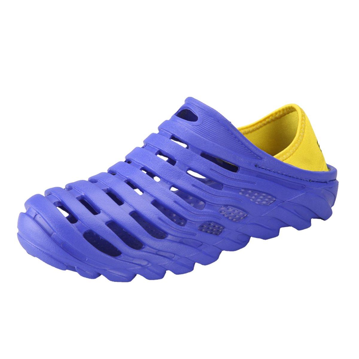 Garden Clogs Shoes Men's Ultralight Hollow Summer Aqua Breathable Comfort Slippers Outdoor Unisex Water Shoes Blue 43