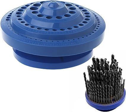yuaierchen - Caja de Almacenamiento para Brocas de Taladro, Forma Redonda, Organizador de plástico Duro, 100 Piezas: yuaierchen: Amazon.es: Hogar