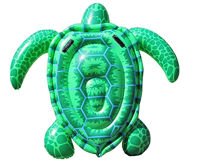 Baiyouli tortuga inflable flotador piscina Floatie Balsa ...