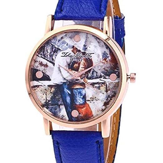 Scpink Relojes de Cuarzo para Mujeres, Liquidación analógica a la Venta Patrón de Amantes Relojes
