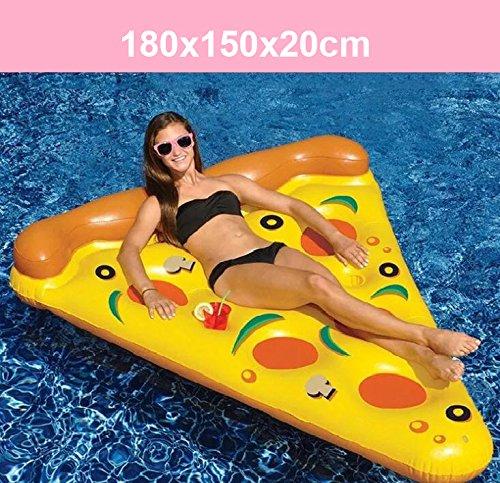 YGJT Piscina Galleggiante Pizza Gigante Slice Pool Letto Galleggiante Cuscino Gonfiabile del PVC per Lo Sport Acquatico… 1 spesavip