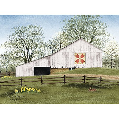 (Tulip Quilt Block Barn By Billy Jacobs - 16 x 12 Art Print Poster)