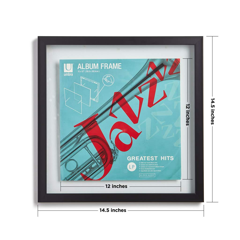Umbra Record Album Frame 14-1/2x14-1/2-Inch, Modern Picture Frame Designed to Display a Floating 12-Inch by 12-Inch Album Cover by Umbra (Image #2)