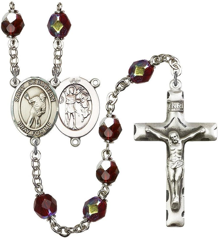 Bonyak Jewelry Light Lavender Glass June Rosary Boxed