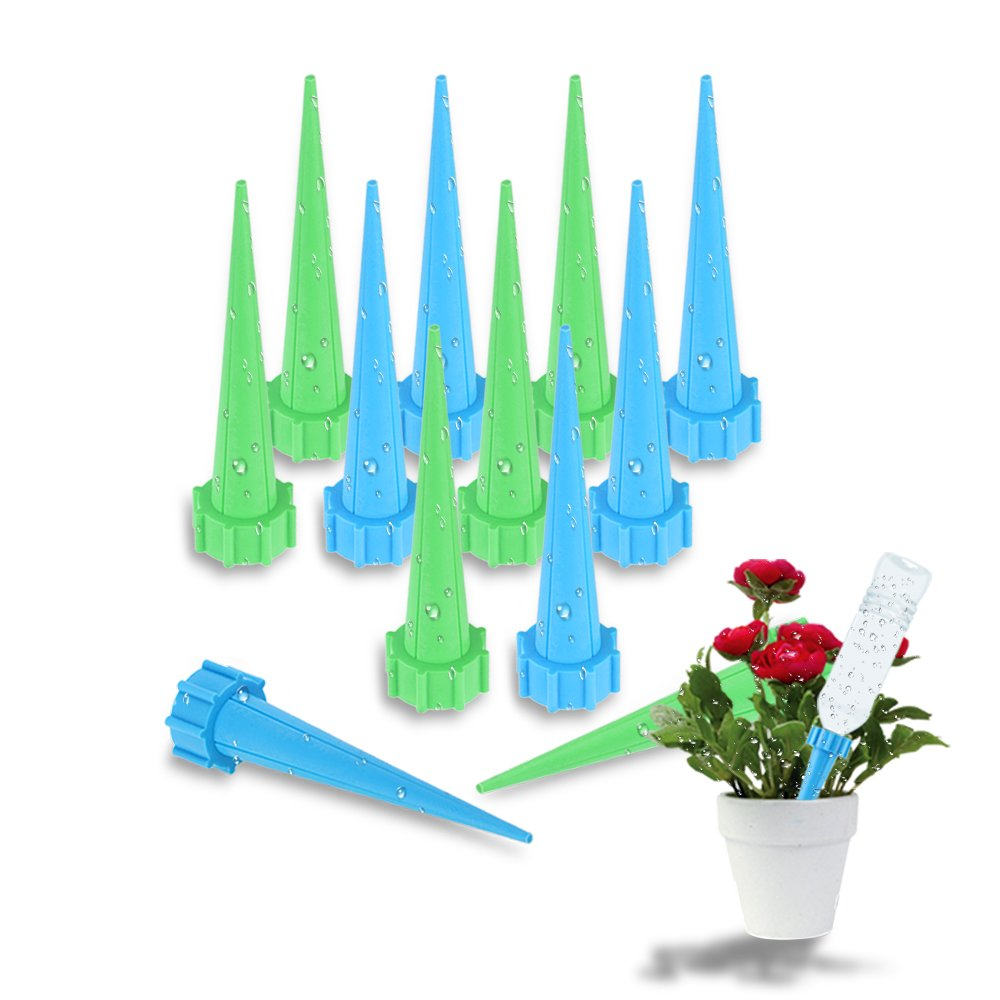 WFhome Plant Watering Stakes, Automatic Watering Spikes System, Plant Self Drip Irrigation Slow Release For Indoor Or Outdoor Houseplants, Perfect For Vacation Plant Watering. (12 pack set)
