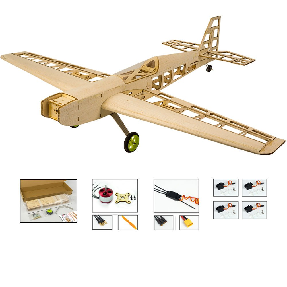 Balsa Wood Airplane Kits T10 3d Rc Plane 31 Wingspan Laser Cut Wooden Aircraft Model Kit To Build Diy 4ch Electric Radio Controlled Flying Airplane