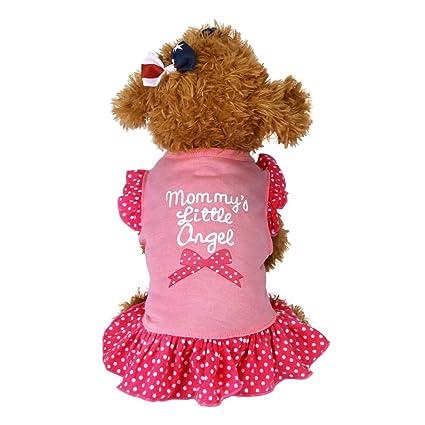 kstare mascota cachorro verano pequeño perro gato mascota vestido prendas de vestir ropa Fly Vestido de