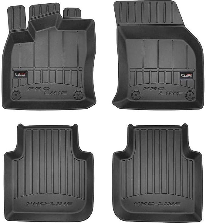 Pro Line 3d407275 3d Gummimatten Auto Fußmatten Tpe Extra Hohe Rand Komplettset 4 Teilig Mit Befestigungssystem Schwarz Auto