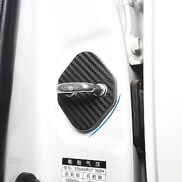 Carbon Black Door Decal Sticker Cover Kick Protector For TOYOTA 2016-2017 Rav4
