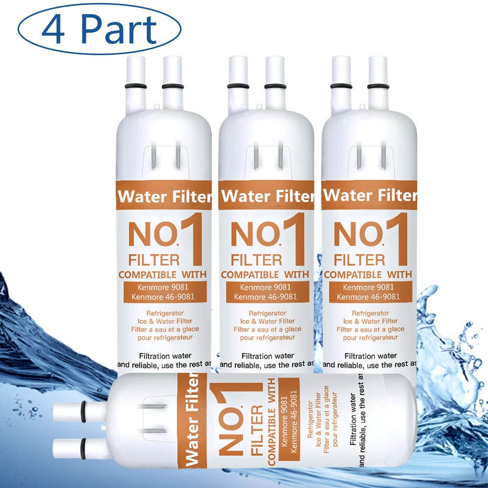 Compatible for Kenmore 46//9081 9081 46//9930 9930 Water Filter 9081 Water Filter Replacement 4 Pcs