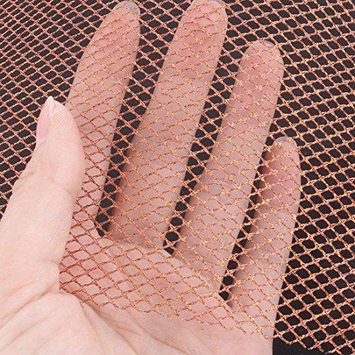 Uxcell Polyester Mariée Voile De Mariée Décoration Pleine Robe De Tulle Rouleau De Bobine 6 Pouces X 10 Verges Orange Pourpre